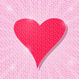 Big Pink Heart Card with Light Pattern