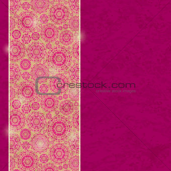 Background Card with Abstract Vertical Decoration