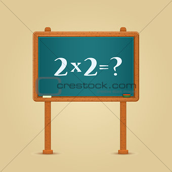 Blackboard with Simple Multiply and Equation