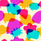 Bubbles Chat Icons Intersect in Seamless Pattern