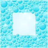 Cyan Water Bubble Frame