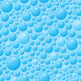 Blue Bubbles Seamless Pattern