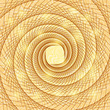 Shiny Gold Abstract Spiral Doodle Card