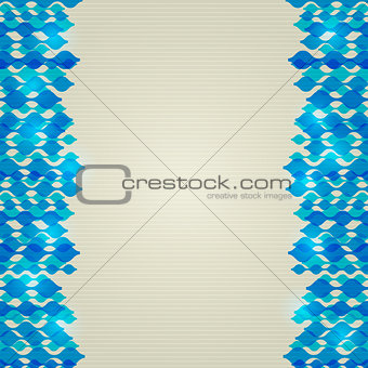 Blue Abstract Shiny Wavy Lines Background