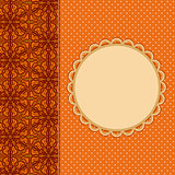 Abstract Orange Invitation Card with Place for Text