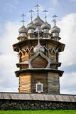 Wooden church at Kizhi under reconstruction