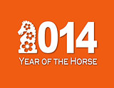 2014 Chinese Horse Paper Cut Out Illustration