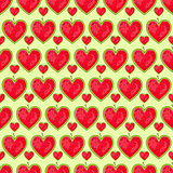 Seamless Pattern With Row of Heart