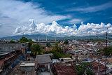 Clouds over Santiago de Cuba harbour