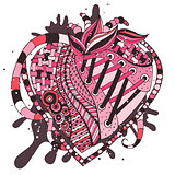 hand drawn abstract heart