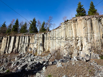 old basalt quarry in The Ore Mountains