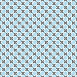 Seamless retro vector pattern. Sweet blue and dark grey background.