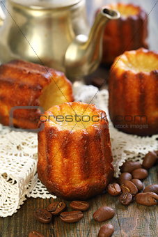 Cannele Bordelais. French small cake.
