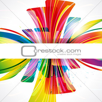 Abstract background forming by transparent design elements.