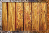 Wood texture with metal frame