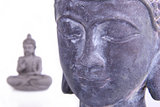 Buddha Head and Meditating Buddha