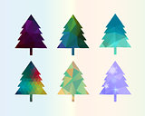 Colorful Diamonds Сhristmas Tree Set illustration