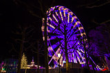 Turning Ferris wheel on achristmas market, Maastricht, the Netherlands