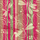 Seamless striped grungy pattern