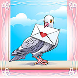 Pigeon with letter