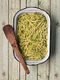 green pea spaghetti