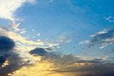Sky with rays