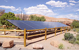 Solar Panels in desert