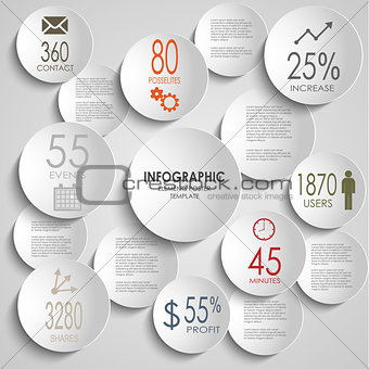 Abstract colored round infographic template