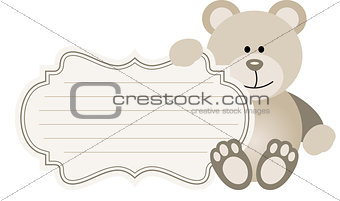 Baby Label Teddy Bear