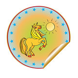 golden horse sticker