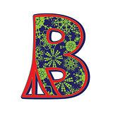 winter letter B
