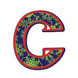 winter letter C