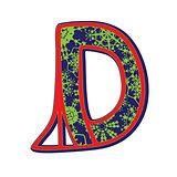 winter letter D