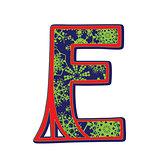 winter letter E