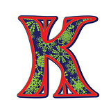 winter letter K