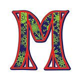 winter letter M