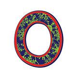 winter letter O