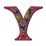 winter letter Y