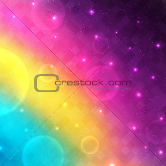Abstract glowing vector background with transparent bubbles