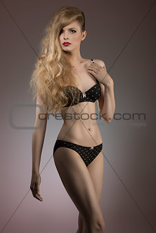 attractive woman in lingerie