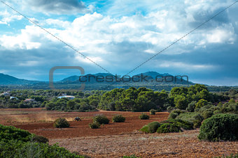 beautiful landscape mountain view mediterranean spain