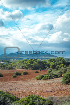 beautiful landscape mountain view mediterranean spain