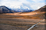 Mount McKinley's snowy peak, Denali NP, Alaska, US
