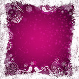 Purple christmas frame