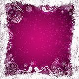 Purple christmas frame