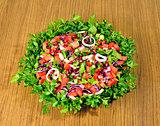 very nicely prepared salad bowl