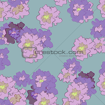 abstract flowers on a colored background