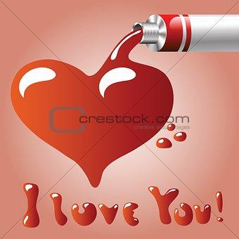 oil paint heart