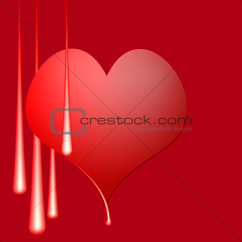 abstract vector illustration with the image of heart