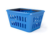Blue shopping basket
